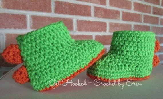 Dinosaur Baby Booties -many sizes