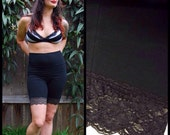 M Cotton Bike Shorts size Medium with BLACK lace trim