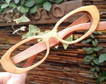 Tiny flaw cherry wood   handmade prescription sunglasses eyeglasses from TAKEMOTO can be customize
