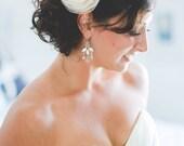 VANILLA IVORY Wedding Hair Flower, Vanilla Ivory Bridal Hair Flower, Ivory Bridal Accessory, Ivory Flower Girl Hair Accessory, Style 20151