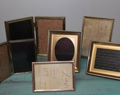 Set of Six Vintage Brass Picture Frames