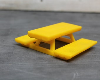 1974 Weebles Yellow Picnic Table by Hasbro