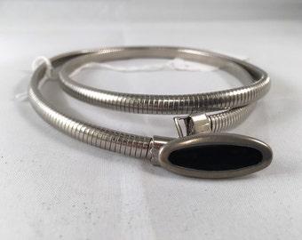 1970s Silver Disco Belt