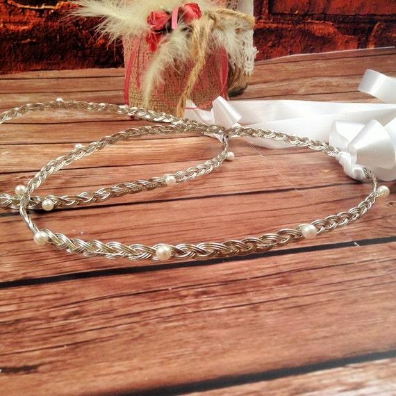 STEFANA Wedding Crowns - Orthodox Stefana - Bridal Crowns MARGARITARI - One Pair
