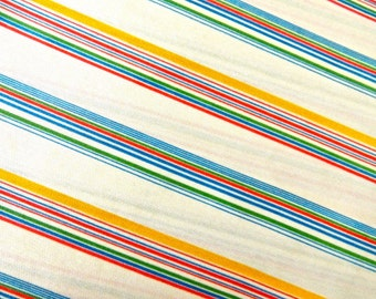 vintage striped fabric 3.5 yards available