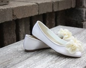 Wedding Shoe - Wedding Flats - Ballet Slipper - Bridal Shoe - Ivory Ballet Flats - Wedding Ballet Shoe - Flats For Brides - Wedding Flats