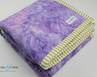 organic baby quilt blanket playmat WATERCOLOR lavendar ready to ship watercolour