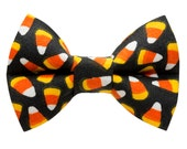 "Cat Bow Tie - ""The Sweet Tooth "" -  Limited Halloween Candy Corn"