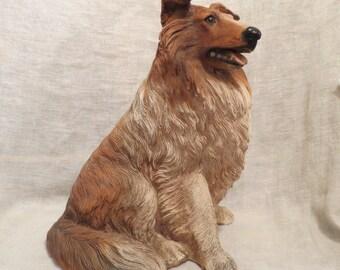 "Universal Statuary Co. 1985 Border Collie Dog 3D Large 11"""