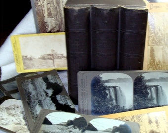 1905 Stereoscope Original BOX w/ 19 CARD Stereo Views