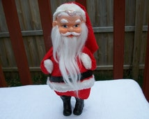 Vintage Cute and Adorable Stand Up Forsum Santa Tagged Dated 1968