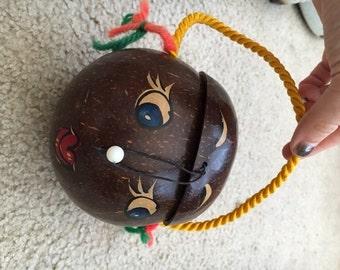 """Vintage Coconut """"Purse"""" Gal"""