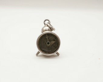 Vintage Sterling Movable Alarm Clock Charm