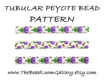 Tubular Peyote Bead PATTERN - Vol. 11 - Thistle - PDF File PATTERN