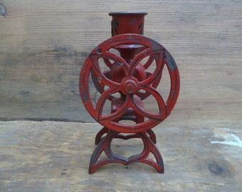 Antique Salvaged Candlestick Holder/Salvaged Industrial Metal Candle Holder