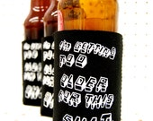 Beer koozie. gift for beer lovers. can huggie. can coolie. i heart beer. funny gift. adult humor. i'm getting too older for this shit.