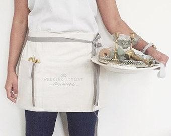 custom half apron : vendor aprons, custom embroidery, florist apron, event planner apron, photorapher apron, bakery apron