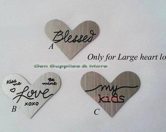 Floating Heart Locket Plate, Love Plate,My Kids Plate, Blessed Plate, Plates  For Floating locket