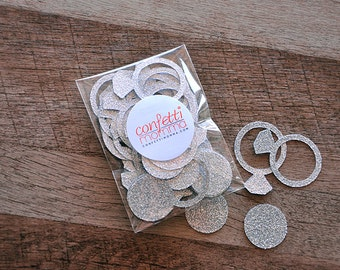 Engagement Ring Confetti 40CT.  Handcrafted in 2-3 Business Days.  Bachelorette Party Decorations.  Bridal Shower Decor.