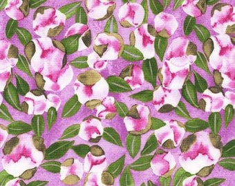 Michael Miller Vignette Berry Spring Buds Fabric - 1 yard
