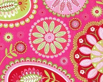 Michael Miller Gypsy Paisley Pink fabric - 1 yard