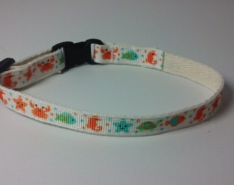 "Under the Sea organic cotton 1/2"" collar"