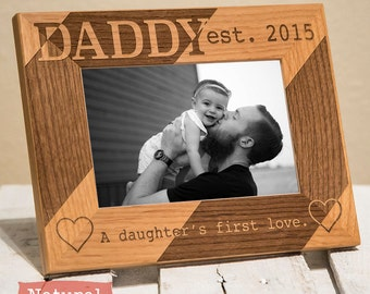 personalized dad picture frame from daughter daddy a daughters first love gift for dad fathers birthday gift