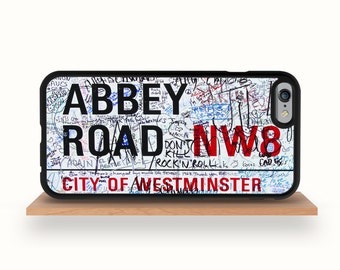 iPhone 7/7 Plus Case, iPhone 6/6S Case, iPhone 6/6S Plus Case, iPhone 5/5S Case, iPhone 5C Case - Abbey Road Street Sign iPhone Case Beatles