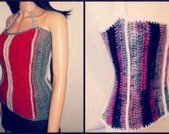 Crochet Corset - Plus Size Crochet -  Crochet Top - Summer Crochet Shirt - Crochet Shirt Pattern - Crochet Tank - Crochet Pattern - Guchet