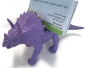Dinosaur styracosaurus  business card holder. Perfect gift for the paleontologist in your life.