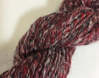 Flax & Merino Handspun Yarn - 92 yards - n-plied