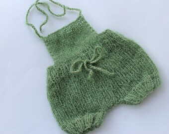 Hand Knit Mohair Baby Bloomers.