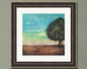 PRINT or GICLEE Reproduction -- Tree Art, Family Art, Inspirational Quote -- Family Roots by Britt Hallowell