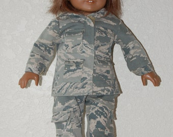 "Air Force Camo Uniform for 18"" Dolls"