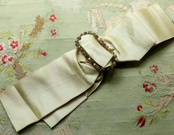 Https Www Etsy Com Listing 280198668 Antique Silk Ribbon Metal Buckle Trim