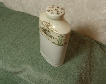 Vintage Nippon Shaker Talc Powder Hand Painted Moriage Porcelain Muffineer
