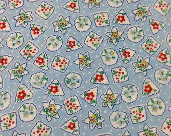 Blue Cookie Snowglobe Fabric Storybook Christmas Whistler Studios