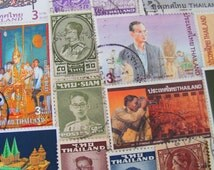 Lemongrass Khon Show 50 Vintage Modern Thai Postage Stamps Kingdom of Thailand Siam Bangkok Ratcha Anachak Prathet Jasmine Asian Philately