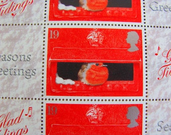Full Sheet of 20 Stamp Show 2000 Smilers for Christmas UNused Great Britain Postage Stamps London Smile Bullfinch GB Worldwide Philately