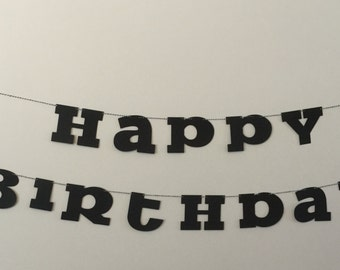 Happy Birthday Banner word banner READY TO SHIP