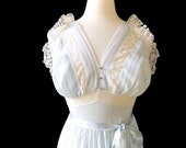 1940s Miss Leonora Gown of the Month from Leonora Silk Underwear Co. in Heavenly Blue with Rhinestones & Lace