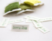 66 - 1.3cm x 3.3cm -Small sew in fabric labels
