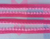 Bright Pink Mini Pom Pom Fringe Baby Toddler Needlework Infant Pompom Sewing Embellishments Craft 36 Yards