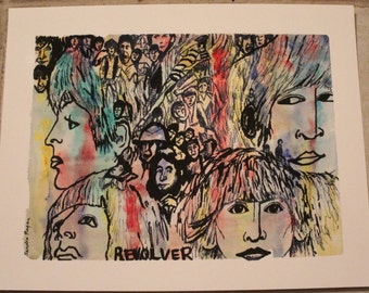 Digital print of original Watercolor Beatles Revolver