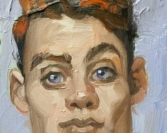 Twerp, oil on canvas panel 8x10 inches Kenney Mencher www.Kenney-Mencher.com
