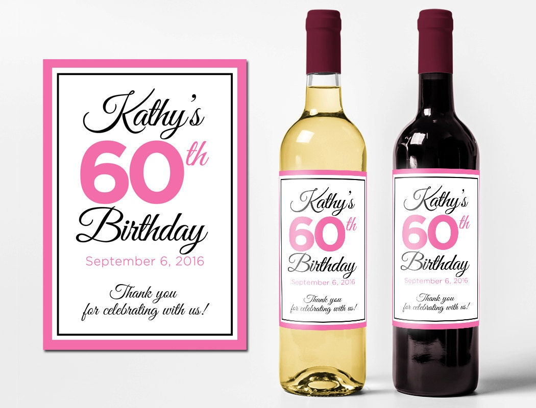 custom wine bottle labels personalized birthday favors With customized wine bottle labels free