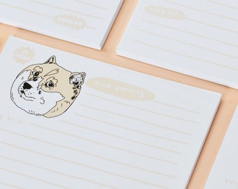 doge notepad - so wow - stationery to do list