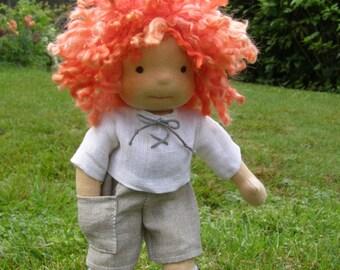 Rupert - Sitting style Waldorf Inspired Boy Doll , 8 inch