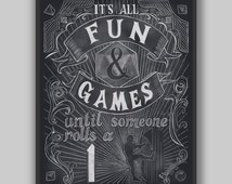 Fun and Games - Print - Digital Typography Dungeons and Dragons Pathfinder Tabletop Gaming