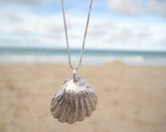 Sterling Silver Sunrise Shell Necklace, Shell Necklace, Beach Wedding Jewelry, Bridesmaid Gift, Surfer Gift, Ocean Lover Gift